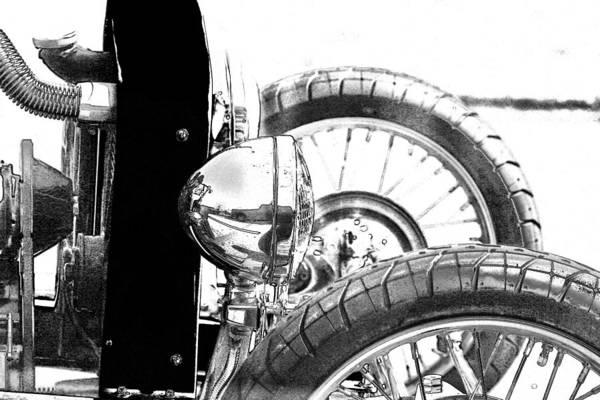 Digital Art - Bucket Roadster I Bw Lineart by Lesa Fine