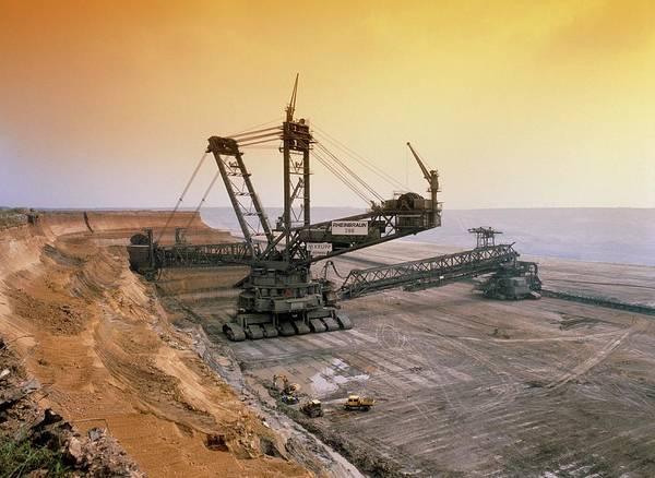 Coal Mining Photograph - Bucket Wheel Excavator by Tony Craddock/science Photo Library