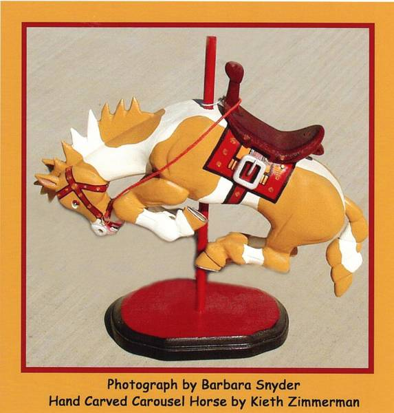 Carousel Digital Art - Bucking Bronco Carousel Horse by Barbara Snyder and Keith Zimmerman