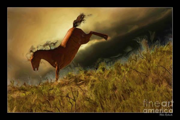 Photograph - Bucking Horse by Blake Richards
