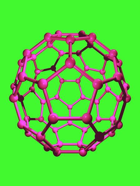 Wall Art - Photograph - Buckminsterfullerene Molecule by Dr Tim Evans/science Photo Library