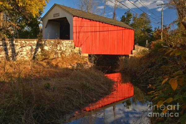 Photograph - Bucks County Erwinna Covered Bridge by Adam Jewell