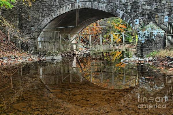 Photograph - Bucks County Historic Bridge Reflections by Adam Jewell