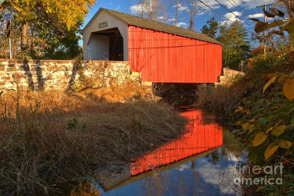 Photograph - Bucks County Historic Covered Bridge by Adam Jewell