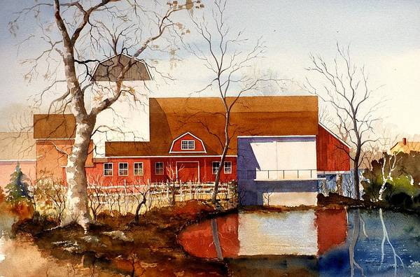 Painting - Bucks County Playhouse by William Renzulli