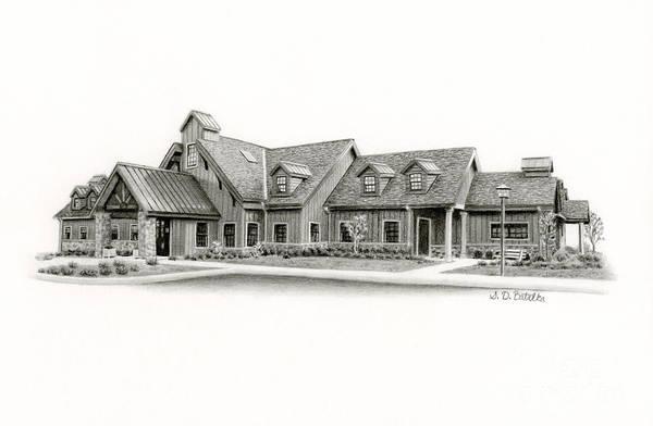 Buck Drawing - Bucks County Spca by Sarah Batalka