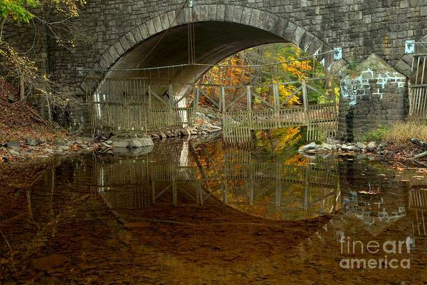 Photograph - Bucks County Stone Bridge Reflections by Adam Jewell