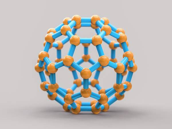 Wall Art - Photograph - Buckyball Molecule C60 by Laguna Design/science Photo Library