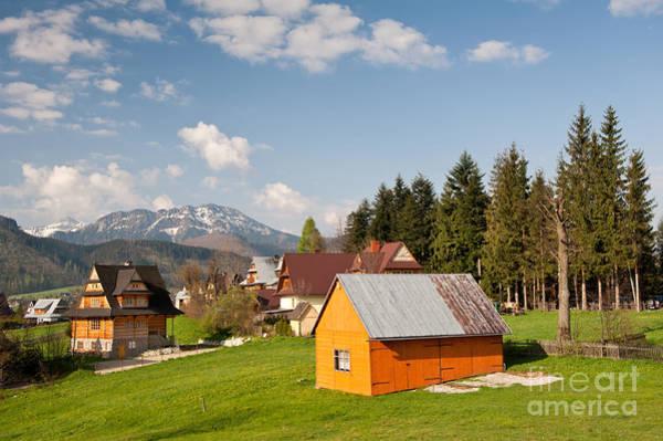 Wall Art - Photograph - Bucolic View In Koscielisko Village by Arletta Cwalina