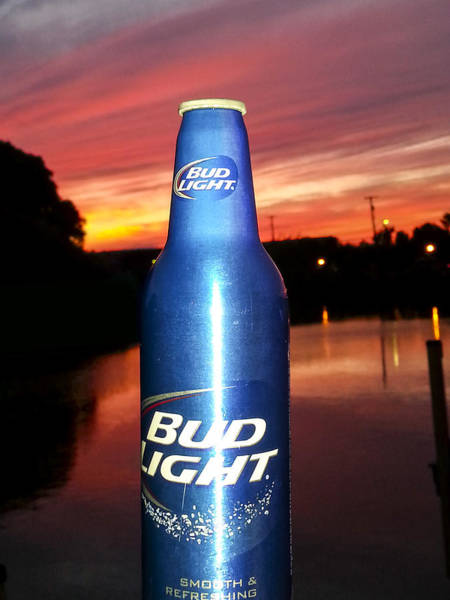 Disappearance Photograph - Bud Light Smooth And Refreshing by Danielle Allard