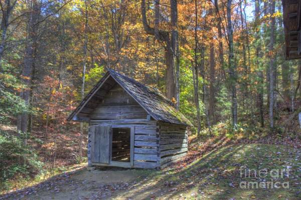 Photograph - Bud Ogle Corn Crib by Crystal Nederman