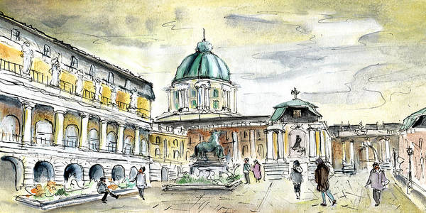 Painting - Buda Castle In Budapest by Miki De Goodaboom