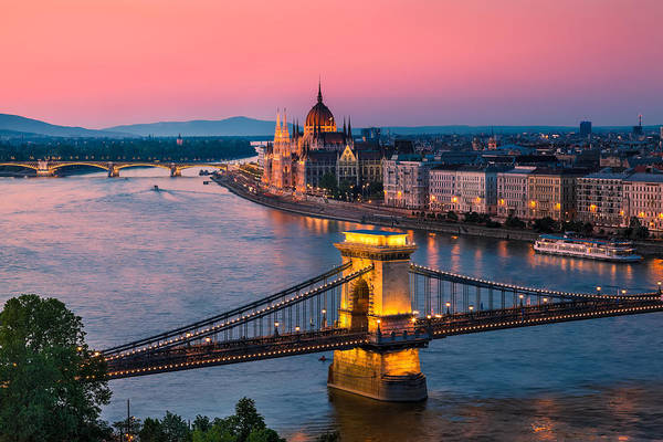 Donau Photograph - Budapest 02 by Tom Uhlenberg
