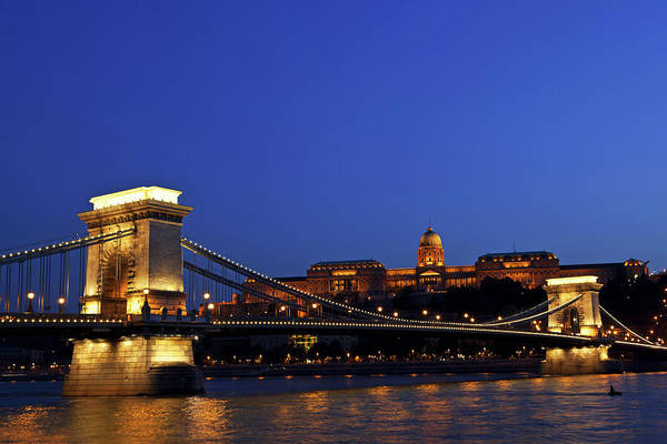 Chain Bridge Photograph - Budapest  3 Xxl by Lya cattel