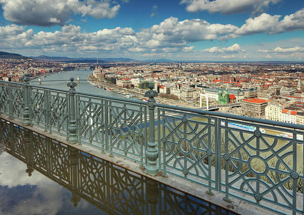Danube Photograph - Budapest Cityscape by Mammuth