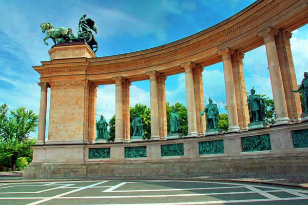 Buda Photograph - Budapest, Hungary, Heroes' Square by Miva Stock