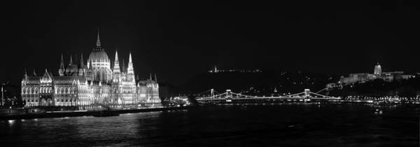 Photograph - Budapest Panorama Bw by Joan Carroll