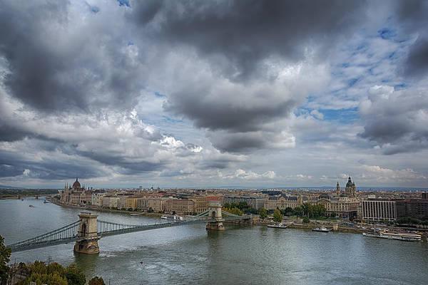 Photograph - Budapest Skyline And Sky by Joan Carroll