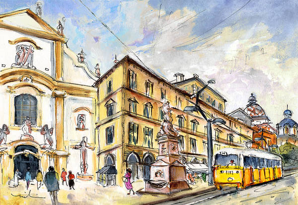 Painting - Budapest Town 01 by Miki De Goodaboom