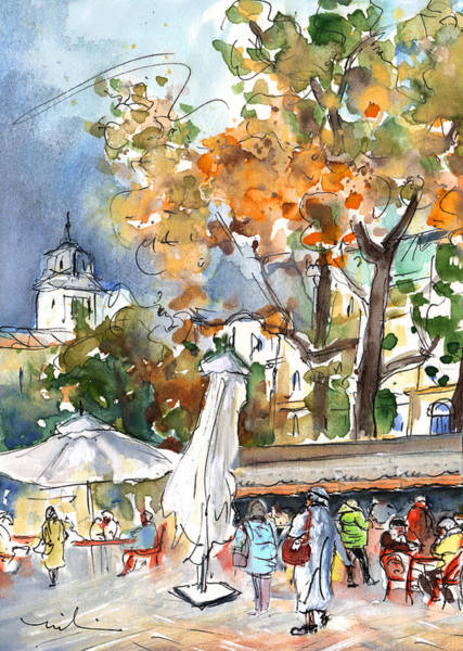 Painting - Budapest Town 03 by Miki De Goodaboom