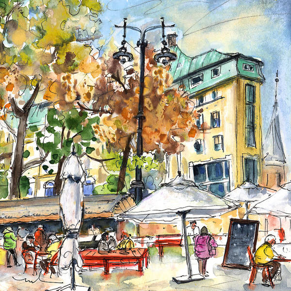 Painting - Budapest Town 04 by Miki De Goodaboom