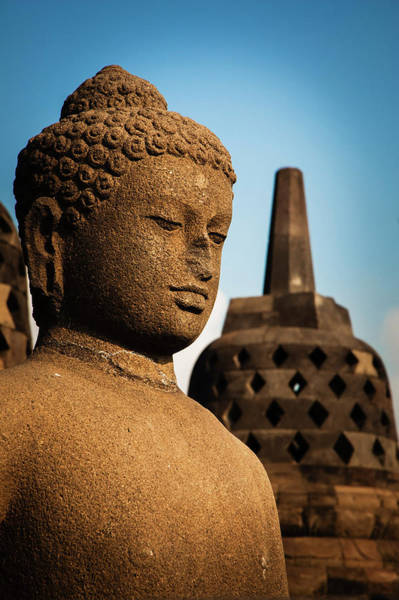 Indonesian Culture Photograph - Buddha And Stupa by Andy S. Chang Photography