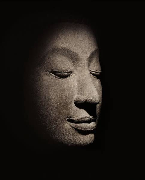 Carve Photograph - Buddha Head From The Early Ayutthaya Period by Siamese School