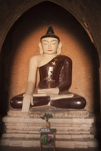 Photograph - Buddha In Bagan by Maria Heyens