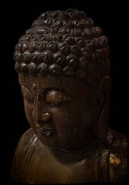 Gautama Digital Art - Buddha In The Dark by Daniel Hagerman