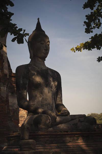 Photograph - Buddha In Wat Mahathat by Maria Heyens