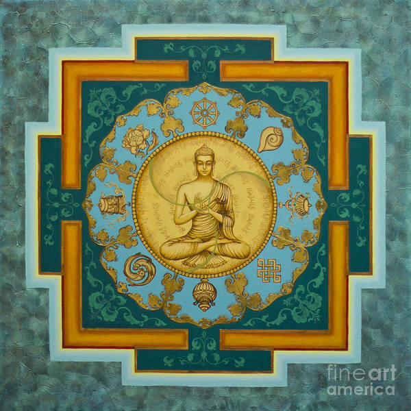 Wall Art - Painting - Buddha. Jewels Of Dharma by Yuliya Glavnaya