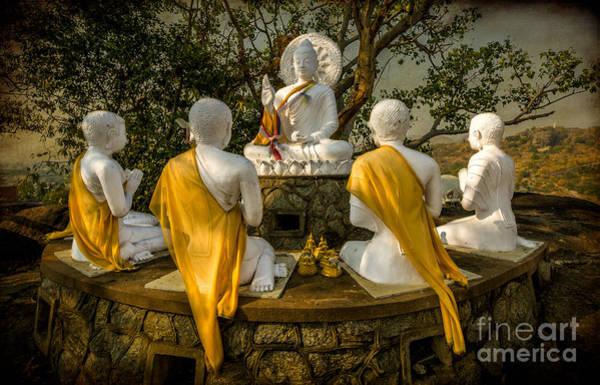 Buddha Statue Photograph - Buddha Lessons by Adrian Evans