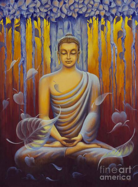 Wall Art - Painting - Buddha Meditation by Yuliya Glavnaya