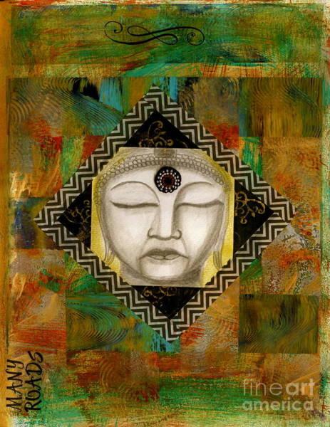 Wall Art - Mixed Media - Buddha Mind by Nancy TeWinkel Lauren