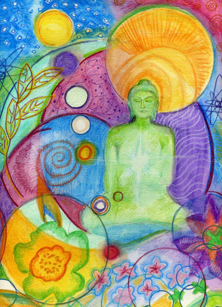 Potential Painting - Buddha Of Infinite Possibilities by Wendy Le Ber