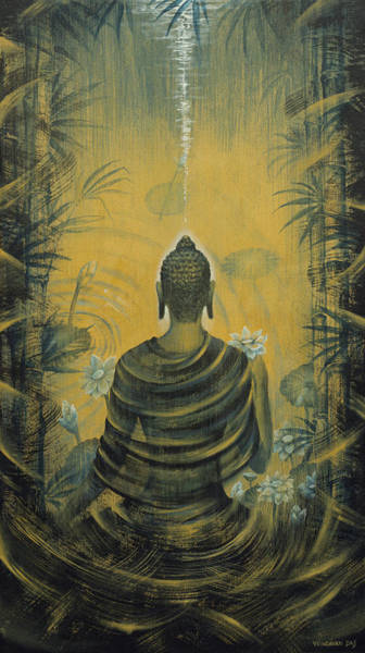 Wall Art - Painting - Buddha. Presence by Vrindavan Das
