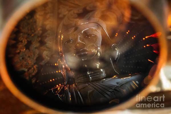 Wall Art - Photograph - Buddha Reflection by Dean Harte
