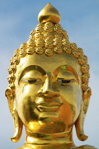 Statue Photograph - Buddha Statue At The Golden Triangle by Jean-claude Soboul