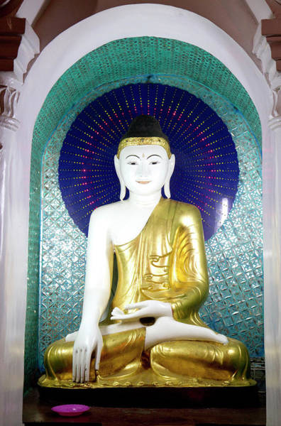 Southeast Asia Wall Art - Photograph - Buddha Statue At The Shwedagon Paya by David R. Frazier