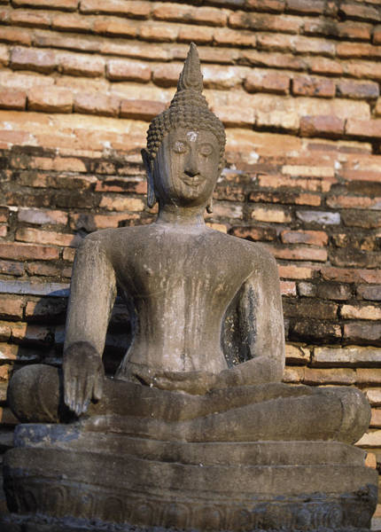 Wall Art - Photograph - Buddha Statue Outside Thai Temple by Richard Berry