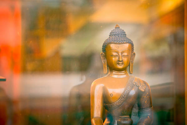 Photograph - Buddha Statue by Raimond Klavins