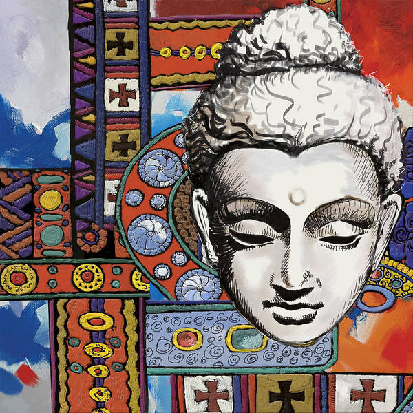 Corporate Art Task Force Wall Art - Painting - Buddha Tapestry Style by Corporate Art Task Force
