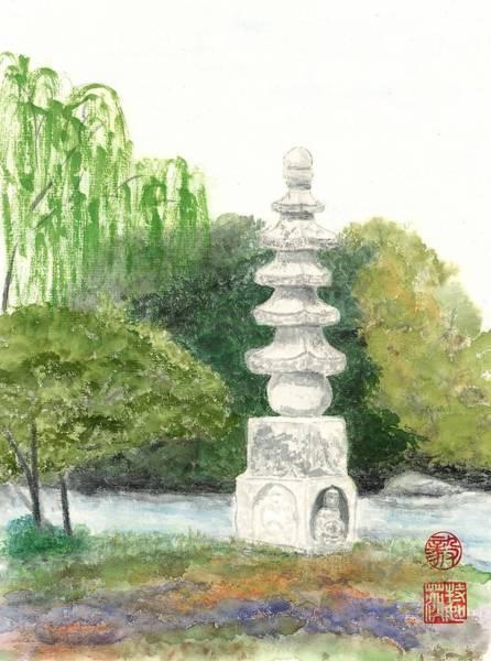 Wall Art - Painting - Buddha Monument by Terri Harris