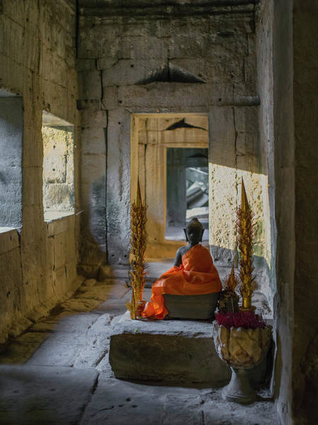 Cambodian Photograph - Buddhist Altar. Ta Prohm. Angkor by Luis Castaneda Inc.