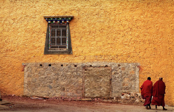 Chinese Clothing Wall Art - Photograph - Buddhist Monks, Songzanlin Temple by Lynn Gail