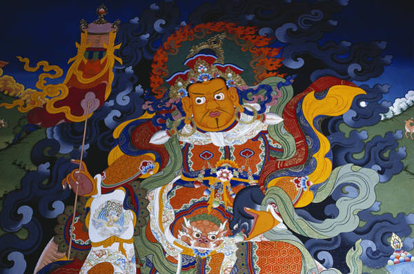 Wall Art - Painting - Buddhist Mural At Hemis Monastery, India by George Holton