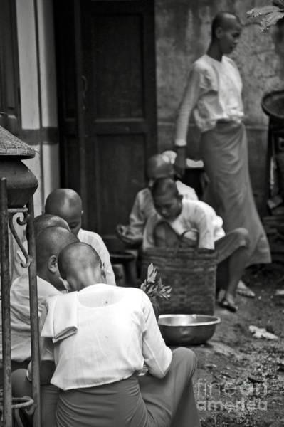 Photograph - Buddhist Nuns In A Monastery by RicardMN Photography
