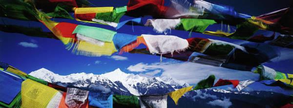 Buddhist Prayer Flags Framing Meili Art Print