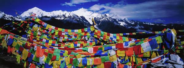 Buddhist Prayer Flags With Meili Art Print