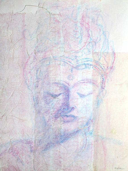 Wall Art - Painting - Buddhist Queen Of Long Ago by Asha Carolyn Young